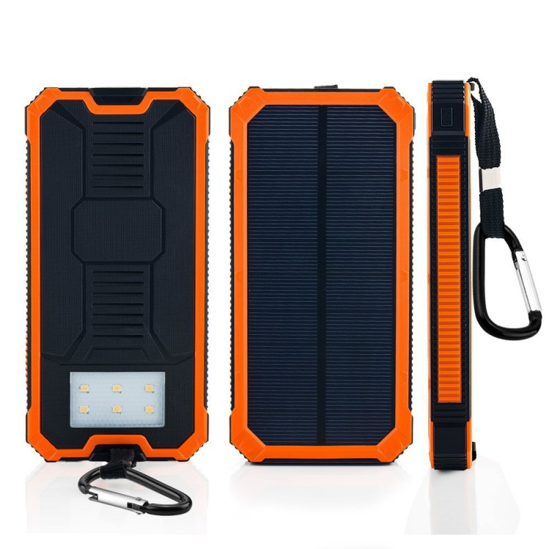 solar mobile phone charger 12000mah dual usb waterproof. Black Bedroom Furniture Sets. Home Design Ideas