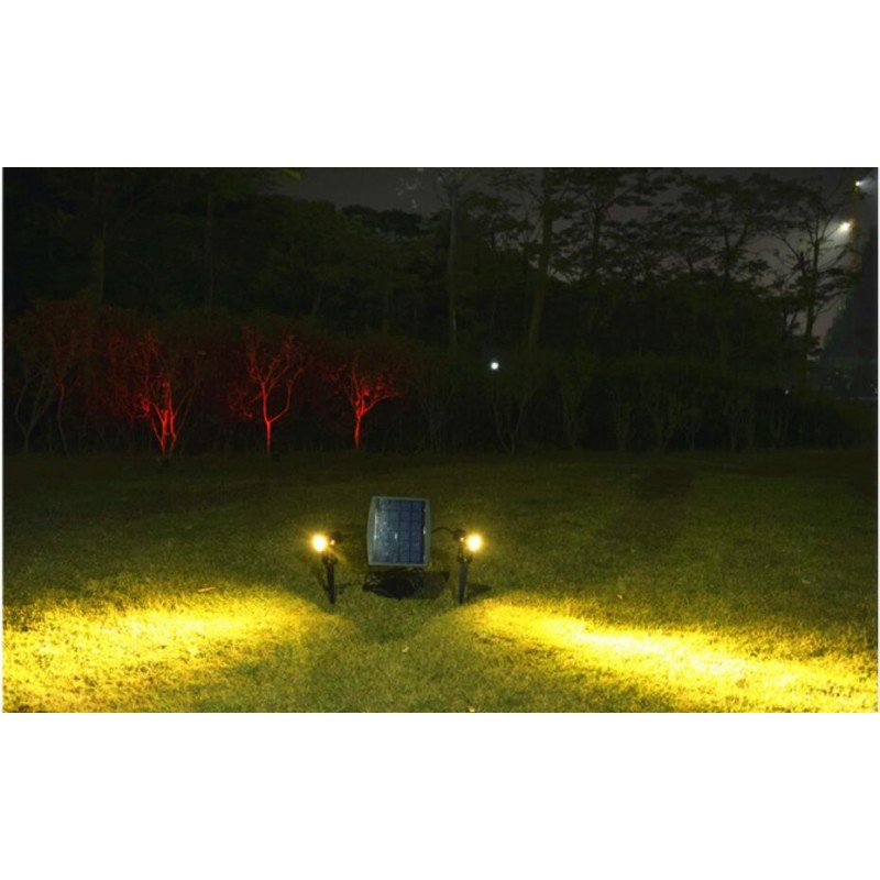 Solar Led Spot Lights With Two Adjustable Heads