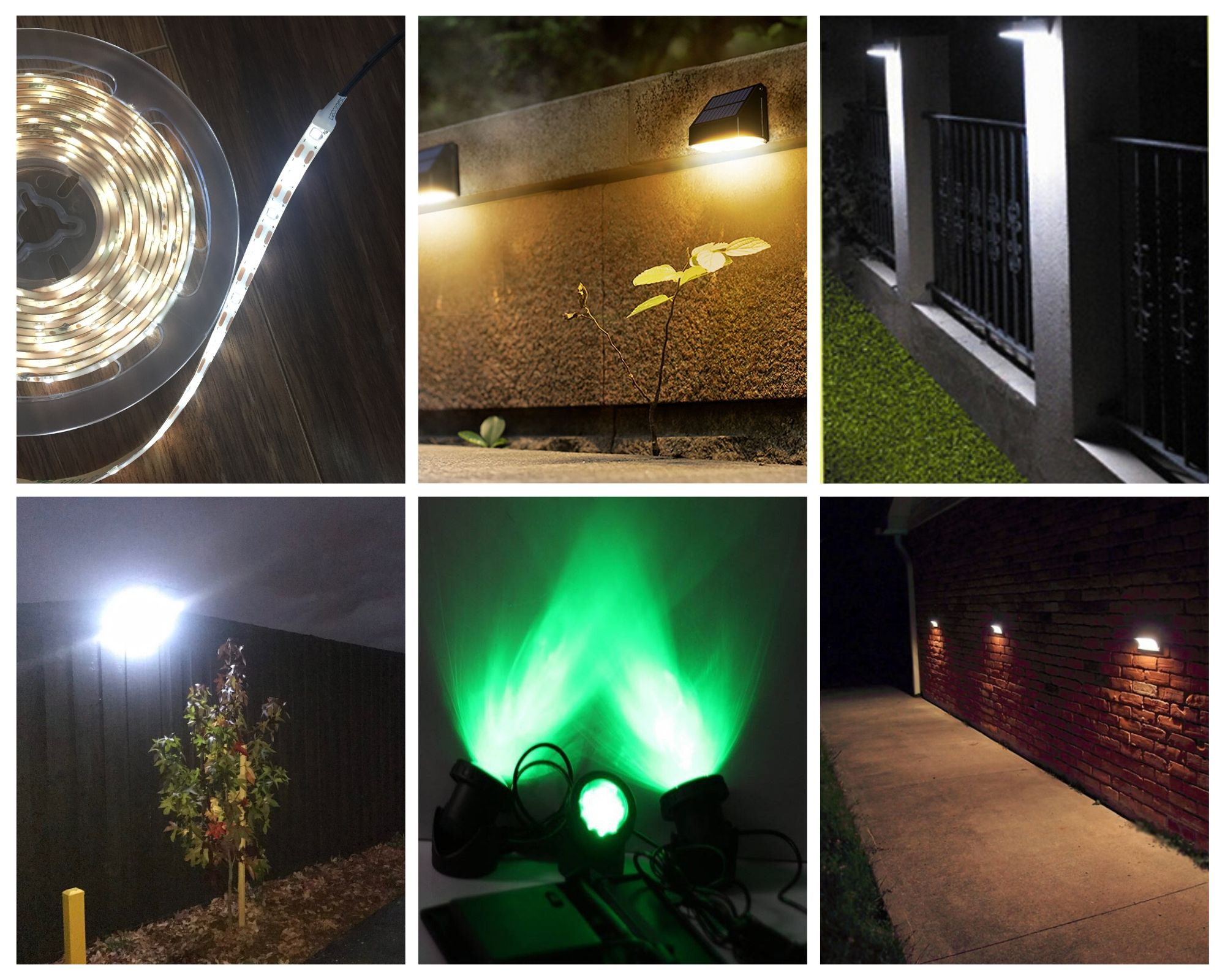 Solar Lamp LED Ever-Bright Light Lamp Solar Bulbs for Countryard Wall Fence